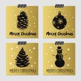 Kartki bożonarodzeniowa ustawiać Fotografia Royalty Free