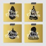 Kartki bożonarodzeniowa ustawiać Fotografia Stock