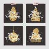 Kartki bożonarodzeniowa ustawiać Zdjęcie Stock