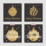 Kartki bożonarodzeniowa ustawiać Obraz Stock