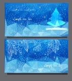 Kartki bożonarodzeniowa z choinką Obrazy Stock