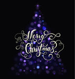 Kartki bożonarodzeniowa literowanie Zdjęcie Royalty Free