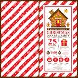 Kartki bożonarodzeniowa zaproszenie Obraz Stock