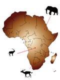 Kartlägga av Afrika Arkivfoto