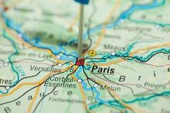 Kartlägga av Paris Royaltyfri Bild