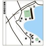 Kartlägga för exempel av parklanden Royaltyfria Foton
