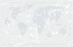 Kartlägger den gammala världen för Grunge bakgrund, vektor Fotografering för Bildbyråer