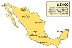 Kartlägga av Mexico Royaltyfria Foton
