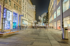 Kartner Strasse, Vienna, Austria. Kartner Strasse is the most famous shopping street in central Vienna .It runs from the Stephansplatz out to the Wiener Royalty Free Stock Photography