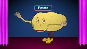 Kartoffel-auf Stadium-spricht Rezepte stock video footage