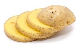 Kartoffel auf Weiß lizenzfreie stockfotografie