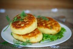 Kartoffel backt mit Fleisch zusammen Lizenzfreies Stockfoto