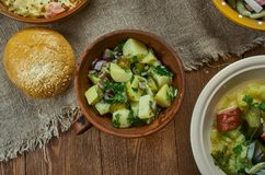 Kartoffel bavarois Salat Photo stock
