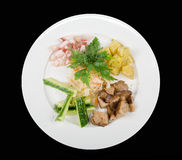 Kartoffel, Fett und Gemüse lizenzfreies stockbild