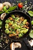 Kartoffel Gnocchi, köstlicher vegetarischer Teller Stockbild