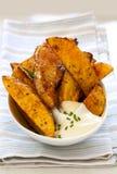 Kartoffel-Keile Stockfoto