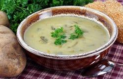 Kartoffel-Lauch-Suppe Stockbilder