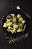 Kartoffel mit Fleisch Lizenzfreie Stockfotos