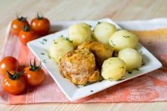 Kartoffel mit Huhn Stockbilder