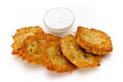 Kartoffel-Pfannkuchen Stockbild