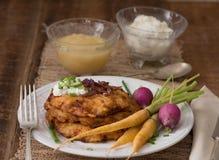 Kartoffel-Pfannkuchen für Hannukah: Latkes Stockbild