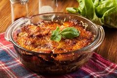 Kartoffel- und Fleischkasserolle Lizenzfreies Stockfoto