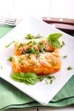 Kartoffel- und Karottenkroketten Lizenzfreies Stockbild