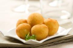 Kartoffelbälle Stockfotografie