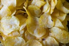 Kartoffelchip in der Masse Stockfoto