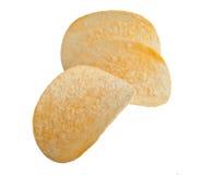 Kartoffelchips getrennt auf weißem Hintergrund stockbild