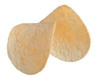 Kartoffelchips getrennt auf weißem Hintergrund stockbilder