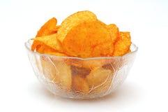 Kartoffelchips mit Paprika Lizenzfreies Stockbild