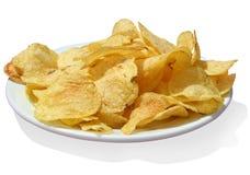 Kartoffelchips w/path lizenzfreie stockfotografie