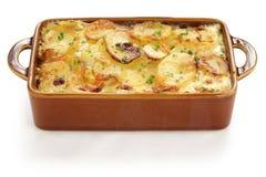 Kartoffelgratin Lizenzfreie Stockbilder