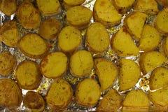 Kartoffelhintergrund Lizenzfreies Stockfoto