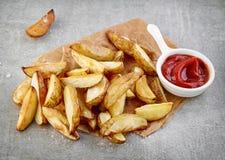 Kartoffelkeile Lizenzfreie Stockfotografie
