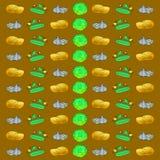 Kartoffelkohl-Gurkenknoblauch Stockfotografie