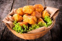 Kartoffelkroketten Stockbild