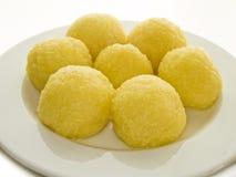 Kartoffelmehlklöße Stockbild