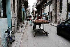 Kartoffeln in altem Havana Stockfotografie