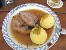 Kartoffeln e carne, Alemanha, 2006 Fotos de Stock Royalty Free