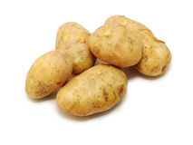 Kartoffeln getrennt Stockbild