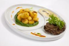 Kartoffeln mit Rindfleisch Lizenzfreies Stockbild