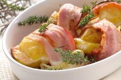 Kartoffeln mit Speck Lizenzfreies Stockbild