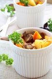 Kartoffeln und Fleisch Stockfotografie