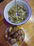 Kartoffeln und Gurken Stockbild