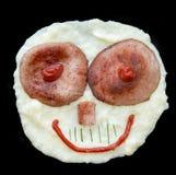 Kartoffelpüreegesicht Lizenzfreies Stockfoto