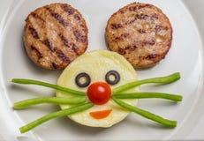 Kartoffelpürees und Kuchen Stockfotos