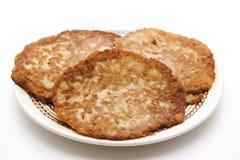Kartoffelpfannkuchen klar gebacken stockbild