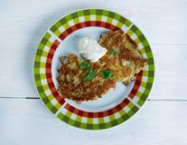 Kartoffelpfannkuchen Latkes Stockbild